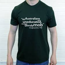 T Shirt Quotes Unique Douglas Jardine Uneducated Australians Quote TShirt From