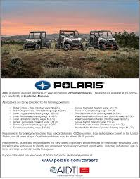 how does 20 hour sound for a starting wage polaris now accepting there are manufacturing jobs as well as human resources engineering and even nurses