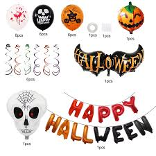 COD <b>Halloween</b> balloon <b>spoof</b> tidy party decoration aluminum film XM