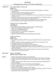 Java Consultant Resume Samples Velvet Jobs