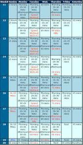 5 Day Workout Chart Workout Training Charts How To Run A Marathon