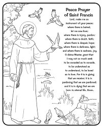 St Francis Of Assisi Colouring Page St Francis Of Assisi Coloring