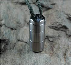 Titaner Double Ended Capsule Kapsel Passend Für Die Dinge Wasserdicht
