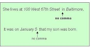 When To Use Comma Commas