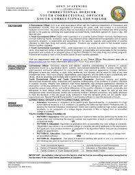 the most amazing resume for correctional officer  resume format web