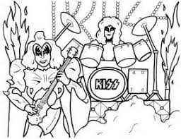 Small Picture The Band Kiss Free Coloring Pages
