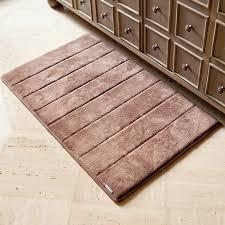 dark chocolate microdry memory foam bath mat