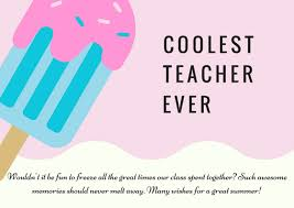 Thank You Letter To Teachers Best Teacher Thank You Card Wording For A Great Year