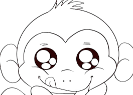 Collection Of Cute Baby Monkey Coloring Pages Download Them And