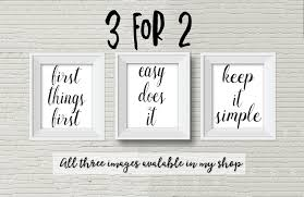 Alcoholics Anonymous Print Aa Recovery Print Keep It Simple Printable Aa Slogan 3 For 2 Offer 12 Step Programs Quote Easy Does It