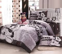 grey mickey mouse bedding fitted sheet and comforter cover disney colouring book