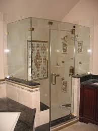 Glass For Bathroom Luxury Bathroom With Frameless Hinged Glass Shower Doors For