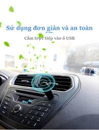 Phụ kiện bên trong ô tô] Máy khử mùi ô tô cung cấp ion âm dạng USB tiện  dụng EP204 - EP204   Máy lọc không khí khử mùi