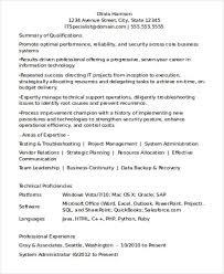 Experienced Resume Format For It Professionals New Picture