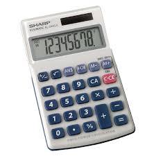 sharp calculator. sharp el-240sab handheld calculator, 8 digit display - 5491192 calculator
