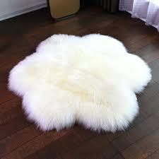 get ations a sheepskin rug living room bedroom carpet round plum wool pad blankets sheep felt