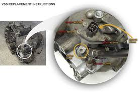 vss vehicle speed sensor troubleshoot repair replace how to see below or see figure 2