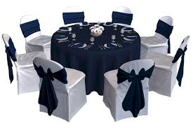 gorgeous navy blue party decorations