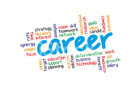 Career Related Words Concept In Word Tag Cloud On White Stock Photos