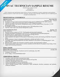 A C Technician Resume Examples Pinterest Resume Examples And