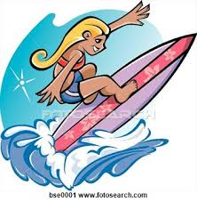 Image result for kids surfing clip art