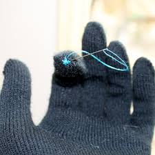 diy touchscreen gloves all you need is a pair of gloves and conductive thread