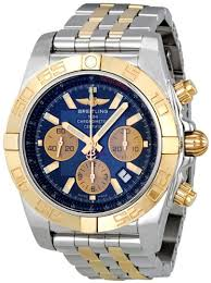 mens watch shops online breitling chronomat 44 blue dial steel and gold automatic mens watch cb011012 c790tt