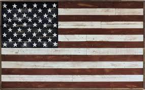 rustic reclaimed barnwood american flag wall art