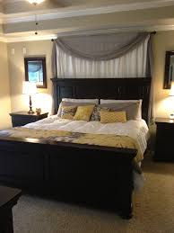 Curtains over bed. Better position for our bed in our master bedroom I ..