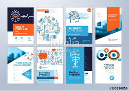 Medical Brochure Template Adorable Set Of Medical Brochure Annual Report Flyer Design Templates In A44