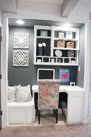 small home office space. builtin office nook basement project home decor small space