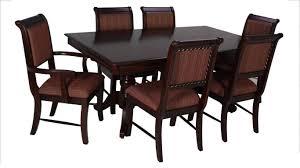 Buy Crown Mark Merlot Dining Table Set 7 Pcs In Brown Cherry