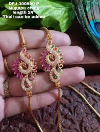 one gram gold mangalsutra chains with