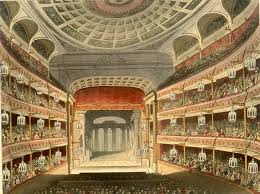 an 1810 ilration of the auditorium of the second theatre on this site shortly after opening