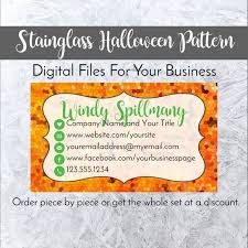 Halloween Business Cards Complete Bundle Personalized In Stainglass Halloween