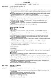 Experience In Resume Samples Onsite Support Resume Samples Velvet Jobs