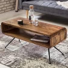 brown modern solid wood coffee table