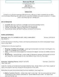 Bartending Resumes Mesmerizing Bar Tending Resume Resume Bartending Resume Example No Experience