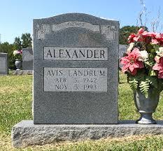 Avis Landrum Alexander (1942-1993) - Find A Grave Memorial