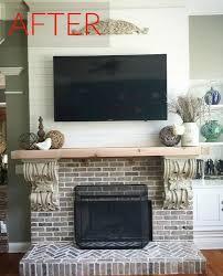Brick Fireplace Mantel 10 Gorgeous Ways To Transform A Brick Fireplace Without Replacing