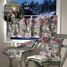 Weihnachten Scheibengardine M Led Beleuchtung Fensterdeko