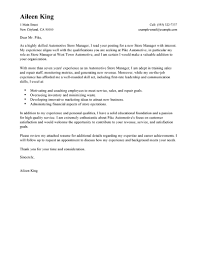 Best Store Manager Cover Letter Examples Livecareer