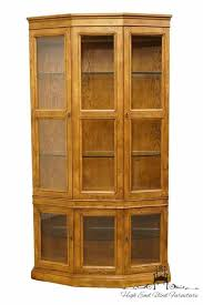 china cabinets value u used henredon and display chairishrhchairishcom curved glass curio cabinet my antique furniture jpg