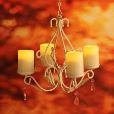 image of outdoor flameless candle chandelier