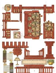 furniture for dollhouse. cut u0026 assemble paper dollhouse furniture by american colortype company for o