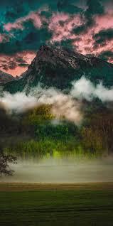 Mountain, fog, clouds, nature ...
