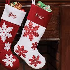 snowflake christmas stockings.  Snowflake Shimmer Snowflake Christmas Stocking With Dark Red Cuff White And Stockings Y