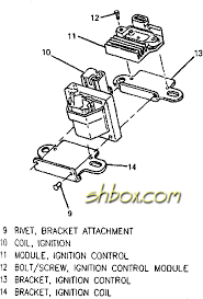 4th gen lt1 f body tech aids drawings & exploded views Lt1 Optispark Wiring Diagram coil and icm mounting exploded view Lt1 Wiring Harness Diagram