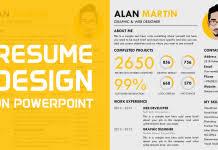Download Free Creative Resume Template Powerpoint School
