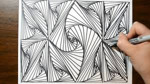 Pattern Drawing Beauteous Cool Sketch Doodle Technique Drawing A Random Pattern YouTube